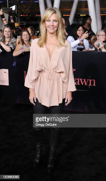 Actress Heather Locklear arrives at 'The Twilight Saga Breaking Dawn Part 1' Los Angeles Premiere at Nokia Theatre LA Live on November 14 2011 in Los...