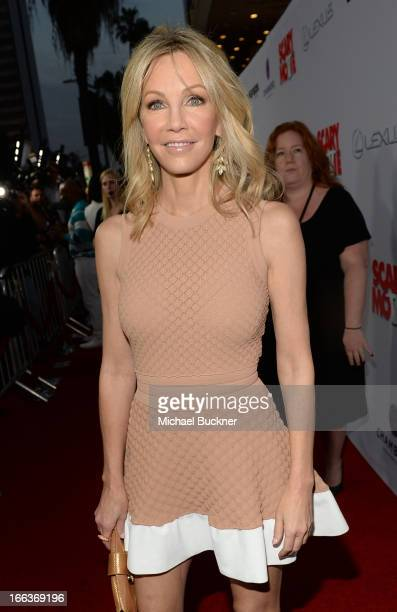 Actress Heather Locklear arrives for the premiere of Dimension Films' 'Scary Movie 5' at ArcLight Cinemas Cinerama Dome on April 11 2013 in Hollywood...