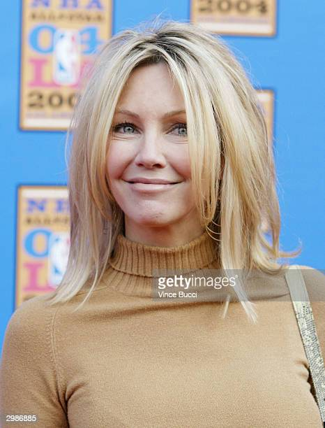 Actress Heather Locklear attends the 2004 NBA AllStar Game held on February 15 2004 at the Staples Center in Los Angeles California