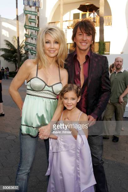 Actress Heather Locklear husband musician Richie Sambora and daughter Ava Elizabeth arrive at the premiere of The Perfect Man at Universal Studios...