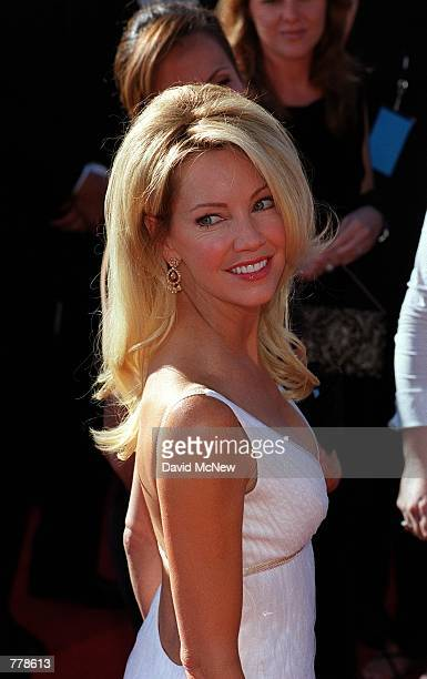 Actress Heather Locklear of Spin City arrives at the 2000 Emmy Awards September 10 2000 in Los Angeles CA