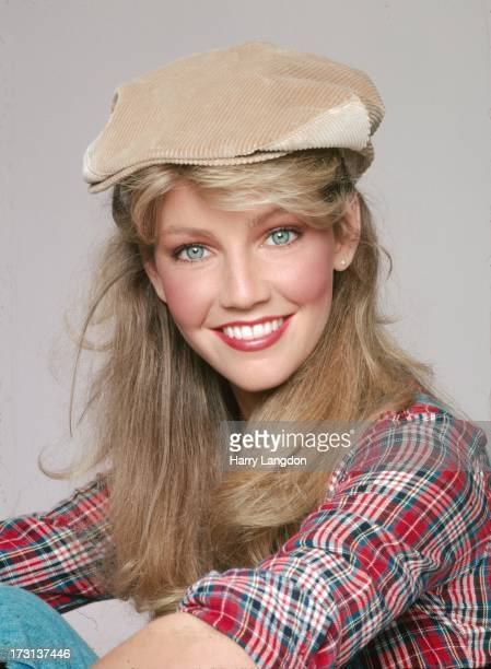 Actress Heather Locklear poses for a Fashion/portrait Session on February 2 1981 in Los Angeles California