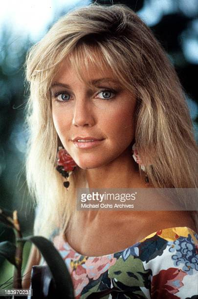 Actress Heather Locklear poses for the movie 'The Return of Swamp Thing' in 1989