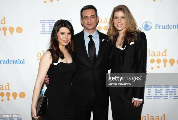 Actress Heather Matarazzo GLAAD President Neil G Giuliano and Carolyn Murphy attend the 20th Annual GLAAD Media Awards at Marriott Marquis on March...