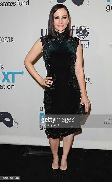 Actress Heather McComb arrives at the UNICEF's Next Generation's 2nd Annual UNICEF Masquerade Ball on October 30 2014 in Los Angeles California