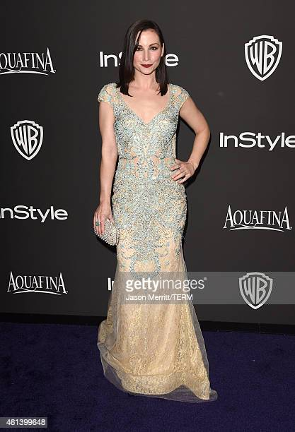 Actress Heather McComb attends the 2015 InStyle And Warner Bros 72nd Annual Golden Globe Awards PostParty at The Beverly Hilton Hotel on January 11...