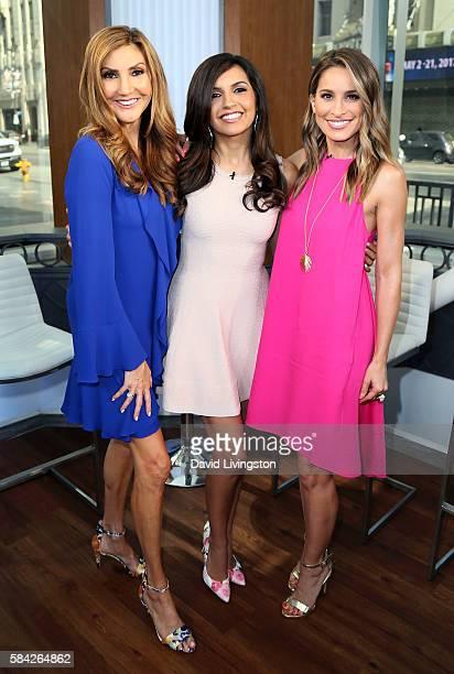 Actress Heather McDonald correspondent Amanda Salas and actress/host Kristen Brockman pose at Hollywood Today Live at W Hollywood on July 28 2016 in...