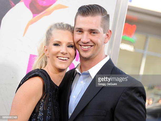 Actress Heather Morris and husband Taylor Hubbell arrive at the premiere of Warner Bros Pictures' War Dogs at TCL Chinese Theatre on August 15 2016...