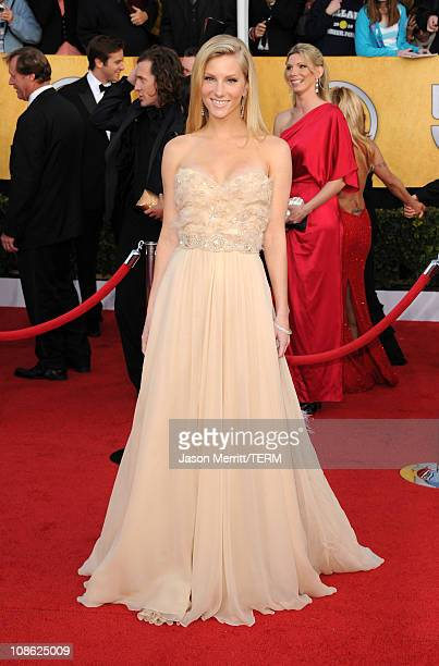 Actress Heather Morris arrives at the 17th Annual Screen Actors Guild Awards held at The Shrine Auditorium on January 30 2011 in Los Angeles...