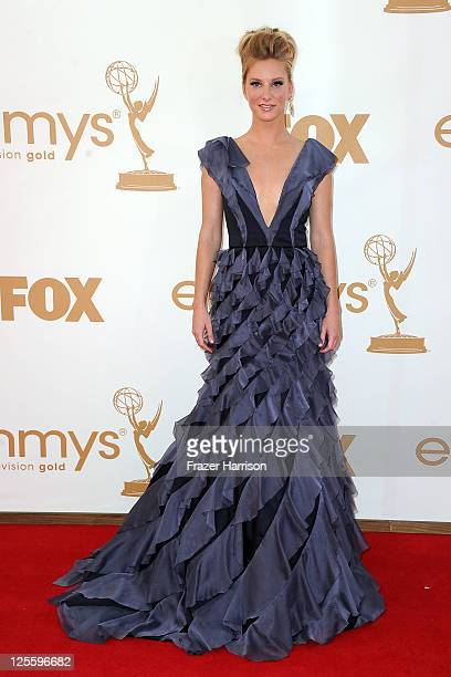 Actress Heather Morris arrives at the 63rd Annual Primetime Emmy Awards held at Nokia Theatre LA LIVE on September 18 2011 in Los Angeles California