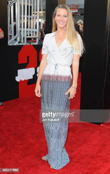 Actress Heather Morris arrives at the Los Angeles Premiere '22 Jump Street' at Regency Village Theatre on June 10 2014 in Westwood California