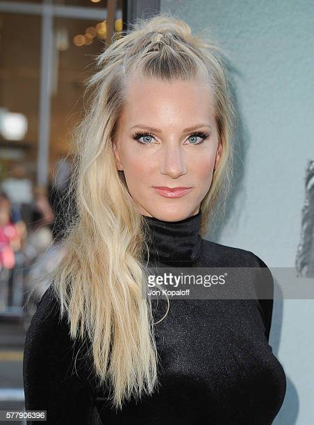 Actress Heather Morris arrives at the Los Angeles Premiere 'Lights Out' at TCL Chinese Theatre on July 19 2016 in Hollywood California