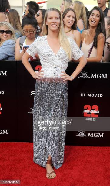 Actress Heather Morris arrives at the Los Angeles premiere of 22 Jump Street at Regency Village Theatre on June 10 2014 in Westwood California