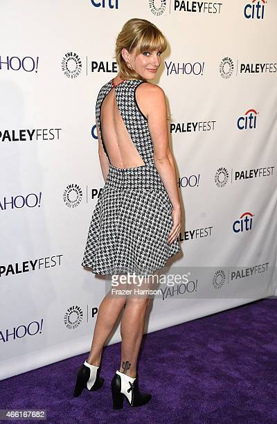 Actress Heather Morris arrives at The Paley Center For Media's 32nd Annual PALEYFEST LA Glee at Dolby Theatre on March 13 2015 in Hollywood California