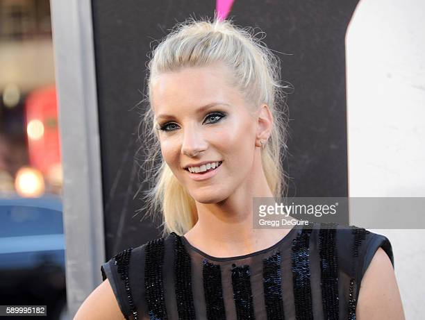 Actress Heather Morris arrives at the premiere of Warner Bros Pictures' War Dogs at TCL Chinese Theatre on August 15 2016 in Hollywood California