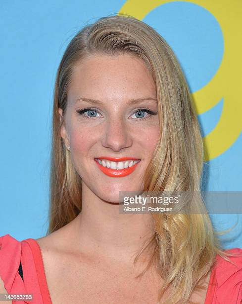 Actress Heather Morris arrives to The Academy of Television Arts Sciences' screening of Fox's Glee at Leonard Goldenson Theatre on May 1 2012 in...