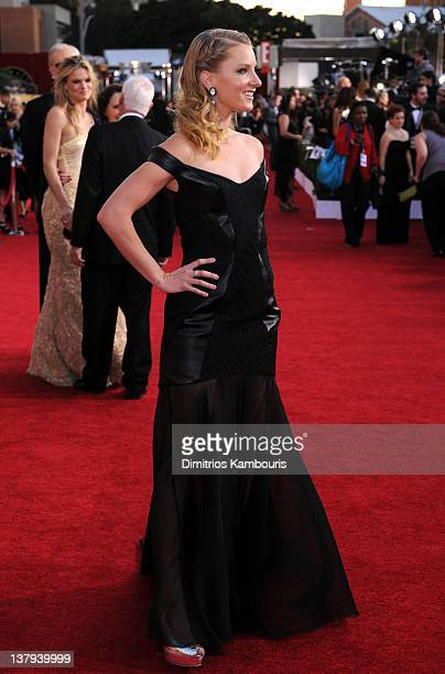 Actress Heather Morris attends The 18th Annual Screen Actors Guild Awards broadcast on TNT/TBS at The Shrine Auditorium on January 29 2012 in Los...
