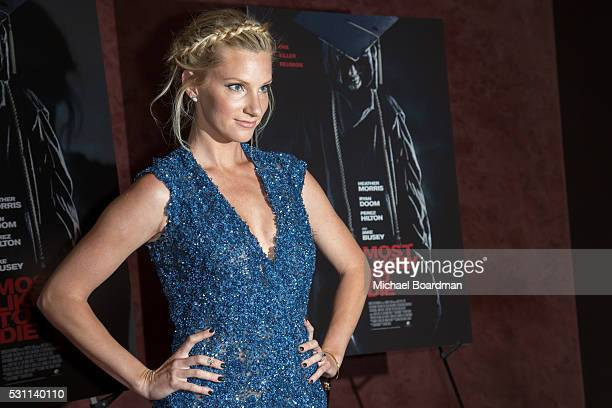 Actress Heather Morris attends the premiere of Marvista Entertainment's Most Likely To Die at the Landmark Theater on May 12 2016 in Los Angeles...