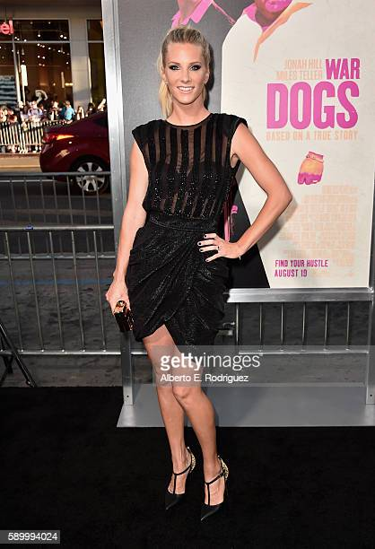 Actress Heather Morris attends the premiere of Warner Bros Pictures' War Dogs at TCL Chinese Theatre on August 15 2016 in Hollywood California