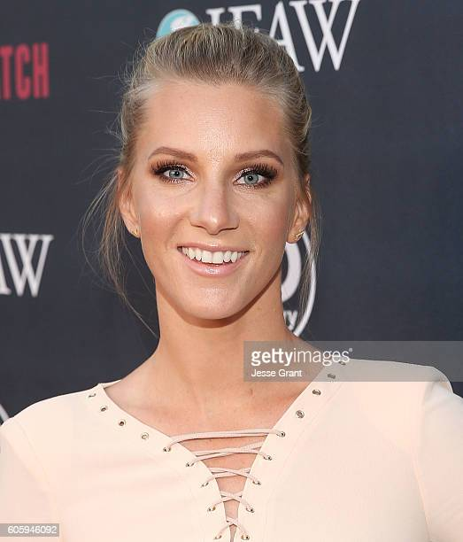 Actress Heather Morris attends the screening of Discovery Impact's 'Huntwatch' at NeueHouse Hollywood on September 15 2016 in Los Angeles California