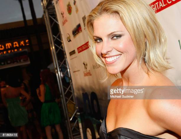 Actress Heather Storm arrives at the screening of No Bad Days at the Egyptian Theater on July 8 2008 in Los Angeles California