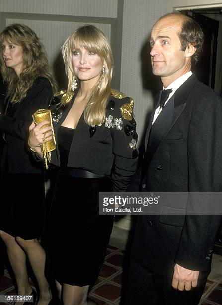 Actress Heather Thomas and date Harry M Brittenham attend the Jewish National Fund Annual Tree of Life Awards on December 11 1986 at Sheraton...