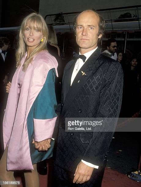 Actress Heather Thomas and date Harry M Brittenham attend the 'Celebration of Tradition' A Gala Event Gathering Warner Bros Stars on June 20 1990 at...