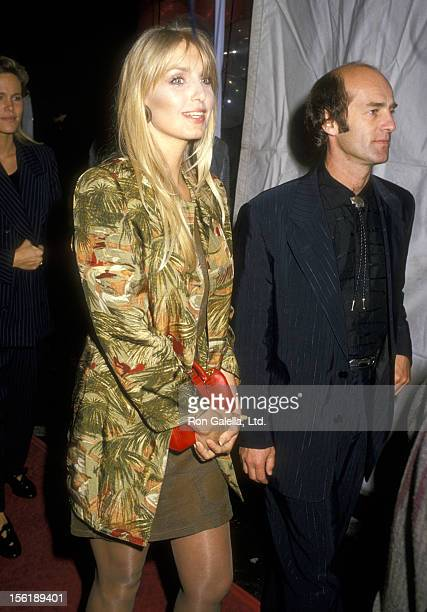Actress Heather Thomas and date Harry M Brittenham attend the 'Sweet Hearts Dance' Westwood Premiere on September 18 1988 at Avco Center Cinemas in...
