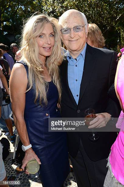 Actress Heather Thomas and Honoree Norman Lear attend the Rape Treatment Center Brunch honoring Norman Lear hosted by Viola Davis at Green Acres...
