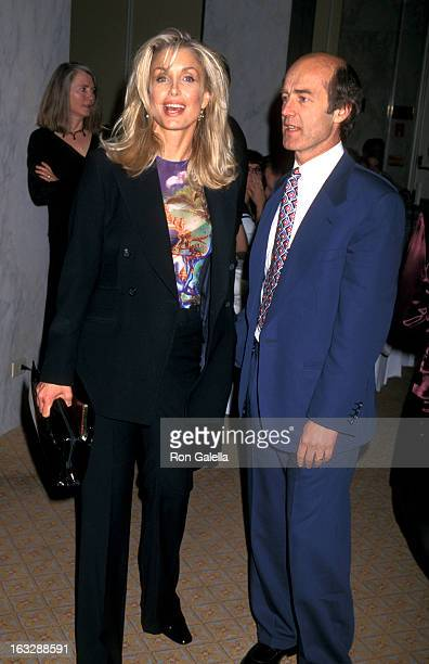 Actress Heather Thomas and husband Harry M Brittenham attend the American Oceans Campaign Benefit on April 9 1997 at the Beverly Wilshire Hotel in...