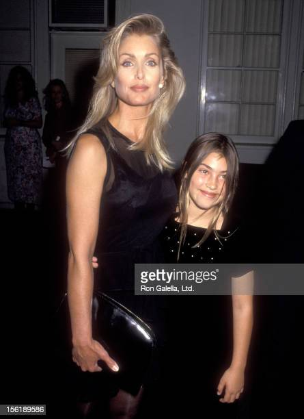 Actress Heather Thomas and Shauna Brittenham attend the Second Annual Environmental Media Awards on September 23 1992 at Sony Pictures Studios in...