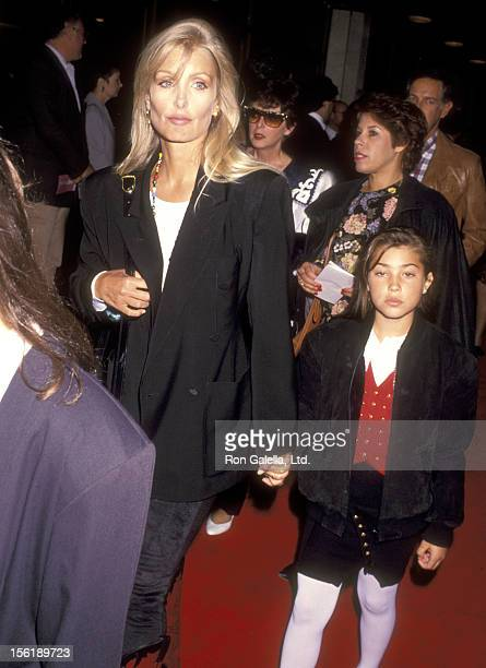 Actress Heather Thomas and Shauna Brittenham attend the 'Soapdish' Westwood Premiere on May 23 1991 at Mann National Theatre in Westwood California