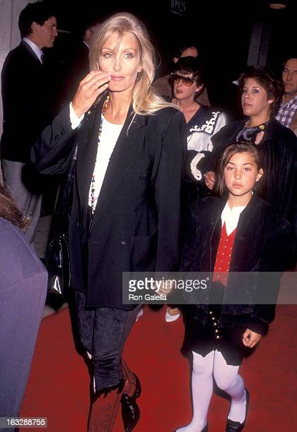 Actress Heather Thomas and Shauna Brittenham attend the Soapdish Westwood Premiere on May 23 1991 at Mann National Theatre in Westwood California