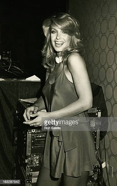 Actress Heather Thomas attending 24th Annual International Broadcasting Awards on March 20 1984 at the Century Plaza Hotel in Century City California