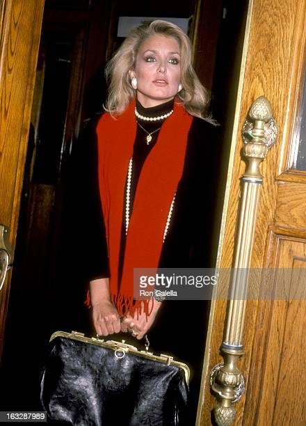 Actress Heather Thomas attends a Party in Honor of Glen A Larson on October 23 1985 at Chasen's Restaurant in Beverly Hills California