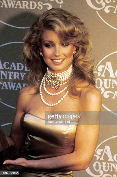 Actress Heather Thomas attends the 20th Annual Academy of Country Music Awards on May 6 1985 at Knott's Berry Farm in Buena Park California