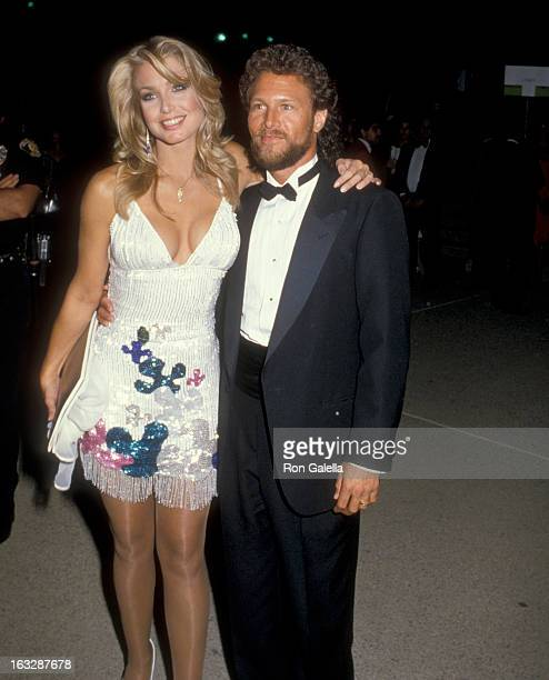 Actress Heather Thomas attends the 37th Annual Primetime Emmy Awards on September 22 1985 at Pasadena Civic Auditorium in Pasadena California