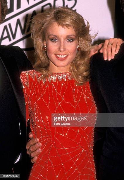 Actress Heather Thomas attends the First Annual Stuntman Awards on February 2 1985 at KABC TV Studios in Hollywood California
