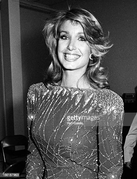 Actress Heather Thomas attends the First Annual Stuntman's Awards Show on February 2 1985 at KABC TV Studios in Los Angeles California