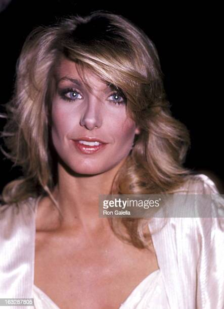Actress Heather Thomas attends the Hispanic Women's Council Awards Gala on April 14 1983 at Beverly Wilshire Hotel in Beverly Hills California