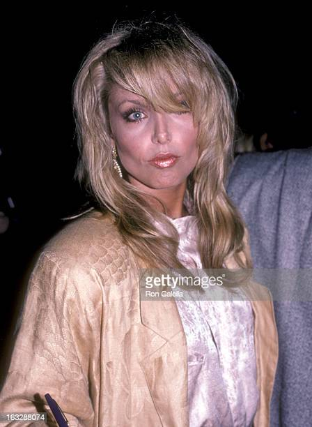Actress Heather Thomas attends the Legal Eagles Los Angeles Premiere on June 12 1986 in Los Angeles California