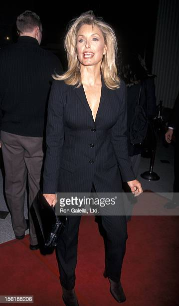 Actress Heather Thomas attends the LA Premiere of 'Kundun' on December 15 1997 at the Avco Center Cinema in Westwood California