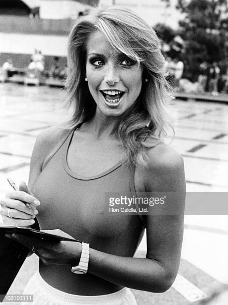 Actress Heather Thomas attends the taping of Battle of the Network Stars on October 8 1983 at Pepperdine University in Malibu California