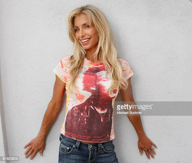 Actress Heather Thomas poses during a portrait session to support her new book Trophies at Book Soup on July 13 2008 in Los Angeles California