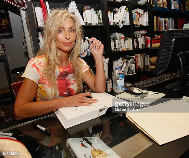 Actress Heather Thomas signs copies of her new book Trophies at Book Soup on July 13 2008 in Los Angeles California