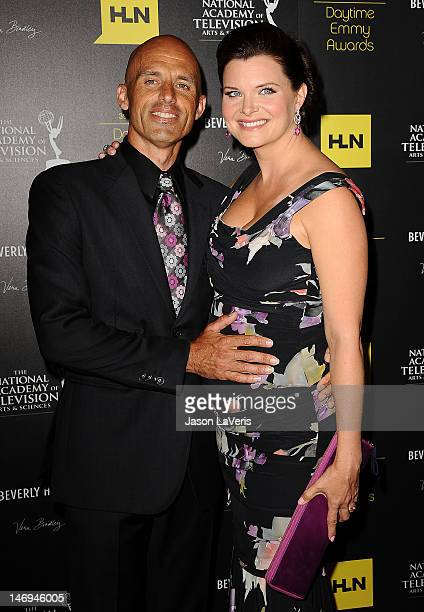 Actress Heather Tom and husband James Achor attends the 39th annual Daytime Emmy Awards at The Beverly Hilton Hotel on June 23 2012 in Beverly Hills...