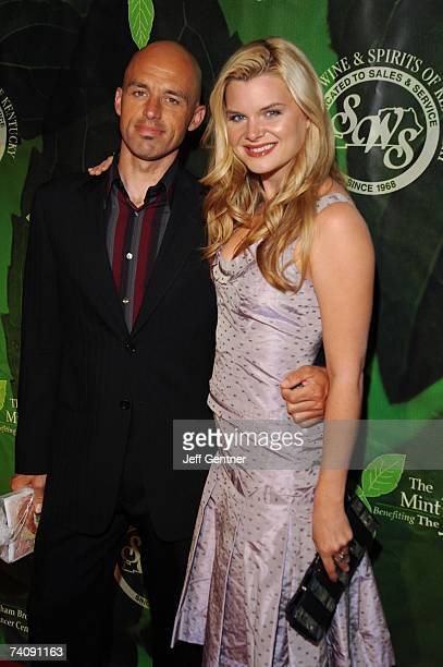 Actress Heather Tom and James Achor arrive at the 2007 Mint Jubilee Gala Fundraiser on May 4 2007 in Louisville Kentucky