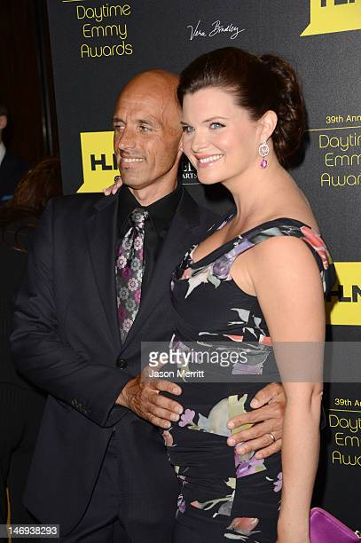 Actress Heather Tom and James Achor arrive at The 39th Annual Daytime Emmy Awards broadcasted on HLN held at The Beverly Hilton Hotel on June 23 2012...