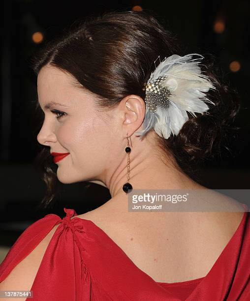 Actress Heather Tom arrives at the 64th Annual DGA Awards at the Grand Ballroom at Hollywood Highland Center on January 28 2012 in Hollywood...