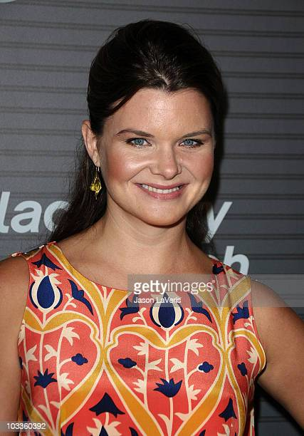 Actress Heather Tom attends the US launch party for the New BlackBerry Torch on August 11 2010 in Los Angeles California